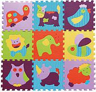 Детский игровой коврик пазл Веселый зоопарк GB-M129А2