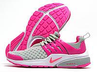 Кроссовки женские Nike Presto серые с розовым (найк престо)