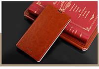 Кожаный чехол книжка Mofi для Lenovo A880 коричневый