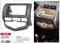 2-DIN переходная рамка HONDA Fit, Jazz 2002-2008 (Auto Air-Conditioning) (Left Wheel), CARAV 11-385