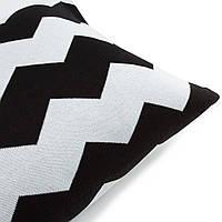 Подушка декоративная Ohaina Скандинавская коллекция 70х50 хлопок цвет чёрно-белая