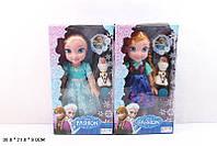 """Кукла """"Frozen"""" 368-3 2 вида,муз,со снеговиком и расческой,в кор. 38*21*9 см"""