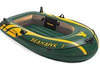 Одноместная надувная лодка с надувным дном Intex 68345 Seahawk 1