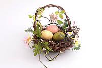 Пасхальная композиция корзинка декоративная Птичье гнездо (Пасхальный декор) 18 см 758-002