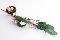Пасхальная композиция декоративная Веточка с гнездом (Пасхальный декор) 72 см 758-014