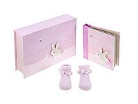 Подарок на рождение. Фотоальбом и носочки, Baby Girl Gift