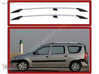 Хромированные релинги с чугунными ножками Dacia Logan MCV