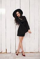 Платье Женственное рукав колокольчиками цвет чёрный