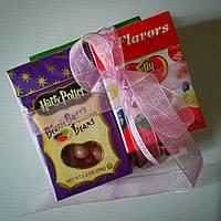 Подарочный набор из 3х упаковок желейных бобов: Harry Potter, Jelly Belly 20 вкусов, Jelly Bean Factory