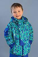 Куртка демисезонная синего цвета с капюшоном