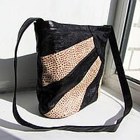 Сумка из натуральной кожи модель №5 с 6 карманами для деловой стильной женщины