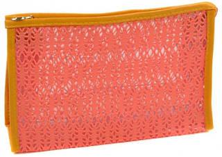 Яркая женская косметичка текстиль 070 оrange оранжевый