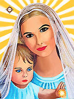 """Схема для вышивки бисером """"Пресвятая Дева Мария"""""""