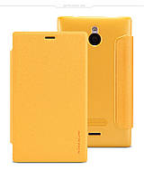 Чехол-книжка NILLKIN для телефона Nokia X2 желтый
