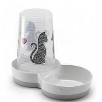 Moderna Tasty cats in love кормушка-поилка автоматическая для собак котов, 1,5 л