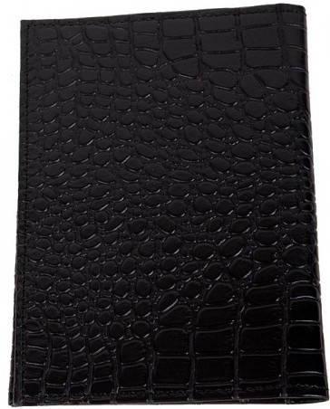Удобная кожаная обложка для паспорта и документов Vip Collection 21A croc черный