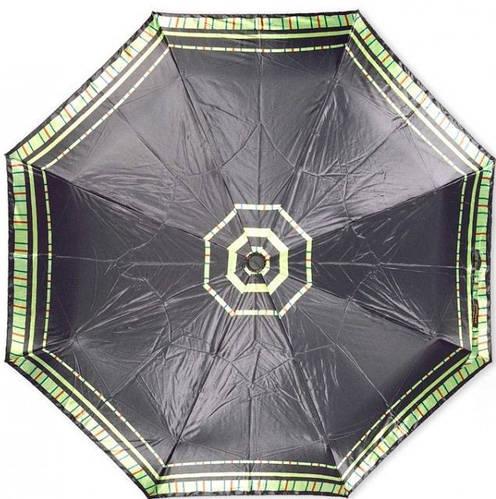 Стильный женский зонт автомат Susino 3970-1 черный Антиветер
