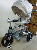 Велосипед 3-х кол. CROSSER T-500 AL  AIR + ФАРА  6 в 1 серый