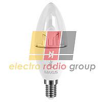 422 C37 CL  6W 5000 K 220 V E 14 AР (new) SAKURA Светодиодная  лампа