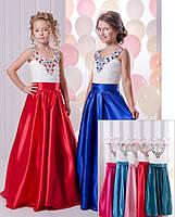 Нежное нарядное платье для девочки в расцветках