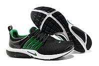 "Кроссовки Nike Air Presto 2 Carving ""Black Green"" - ""Черные Зеленые"""