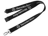 Шнурок для ключей с карабином Mercedes-Benz Classic Star Lanyard, Black