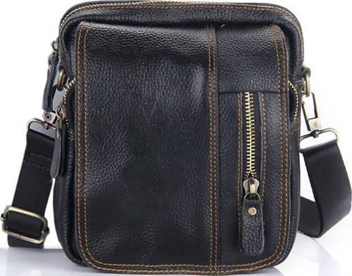 Мужская кожаная сумка Traum 7172-11 черный
