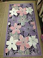 Ковер из коллекции Акустик (Akustik), вискоза, 0,8х1,5 м2, цветы