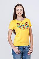 Женская вышитая футболка короткий рукав