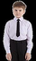 Рубашка белая для мальчика длинный рукав 116-146см
