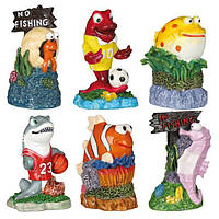 Декорация для аквариума Trixie Набор гротов «Морские жители» (12шт), 7 см