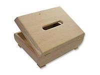 Деревянная заготовка - Шкатулка для творчества салфетница, размеры 24x18x11 см, 1 шт