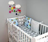 Набор детской постели с модульной охранкой №15