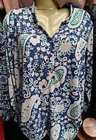 Эфэктная женская блуза в модный принт