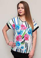Женская футболка прямого силуэта
