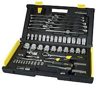 """Набор инструментов 1/4""""+1/2"""", 75ед (головки, трещотки, ключи комбинированые)"""