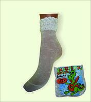 Капроновые носки с рисунком «ANNA» жаккардовые, 6-12 лет