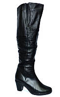 Ботфорты женские демисезонные на каблуке, натуральная кожа. 40 размер