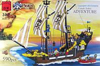 Детский конструктор BRICK 307 пиратский корабль 590 дет