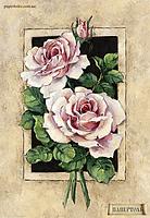 """Набор для создания объемной картины из бумаги """"Винтажные розы"""""""