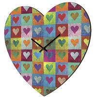 """Настенные часы-сердце """"Сердечки"""""""