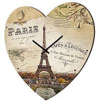 """Настенные часы-сердце """"Париж"""""""