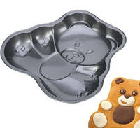 """Форма""""Медведь» для выпечки антипригарная DELICIA TESCOMA Чехия 623180"""