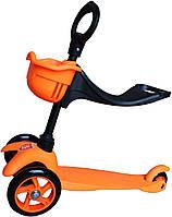 Детский самокат 3 в 1 для детей от 3-х лет  (оранжевый)
