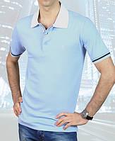 Футболка мужская поло  Fabiani-4503 голубая