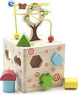 Деревянная игрушка Логический кубик