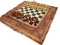 Шахматы+нарды эксклюзивные игры ручной работы на подарок