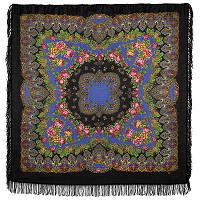 Славянские праздники 1536-18, павлопосадский платок шерстяной  с шерстяной бахромой