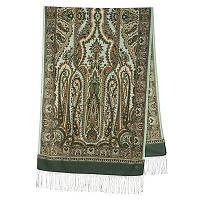 Город золотой 1643-60, павлопосадский шарф-палантин шерстяной с шелковой бахромой