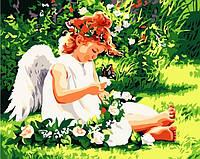 """Роспись картины по номерам на холсте """"В райском саду"""", 40х50см. (MG310, КН310)"""